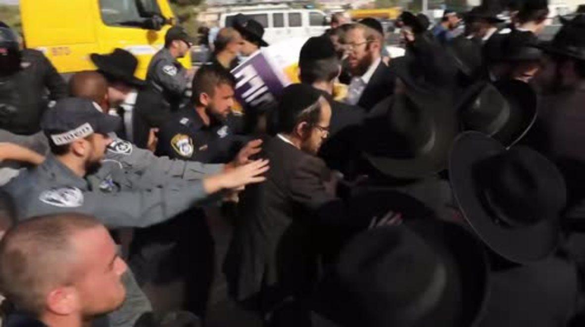 Israel: Police make arrests as ultra-Orthodox military protest turns violent