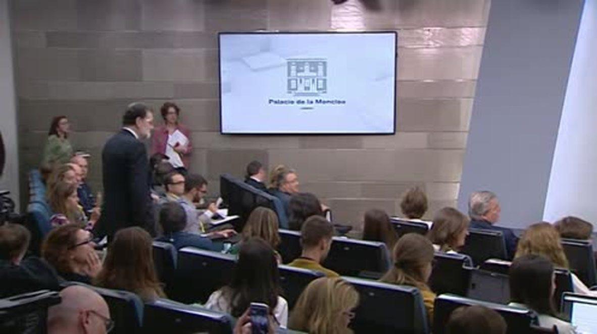 Spain: Rajoy announces enactment of Article 155 to block Catalan autonomy