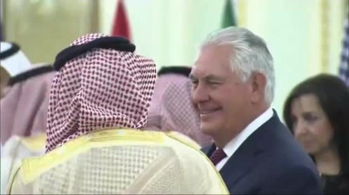 Saudi Arabia: Rex Tillerson meets with Saudi king, Iraqi PM for talks in Riyadh