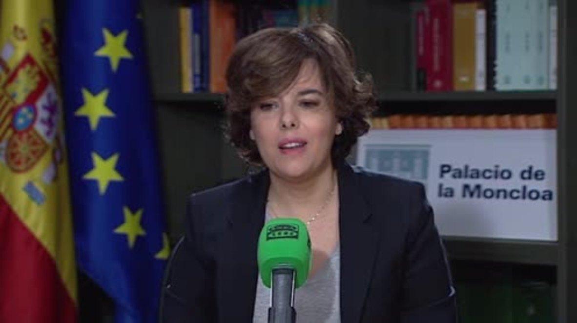 Spain: Generalitat President Puigdemont 'won't hold that position any longer' - Deputy PM