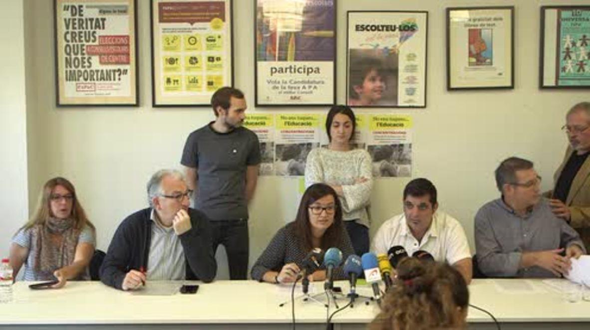 Spain: Catalan teachers deny inciting hatred against Madrid