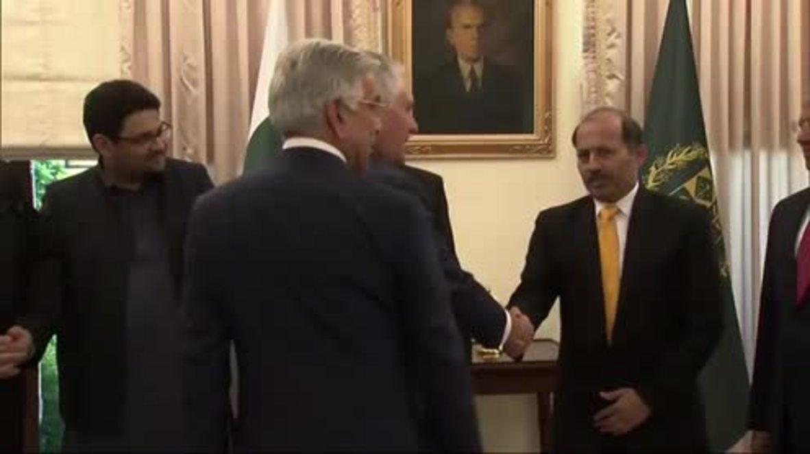 Pakistan: Tillerson and Pakistani PM Abbasi meet in Islamabad for bilateral talks