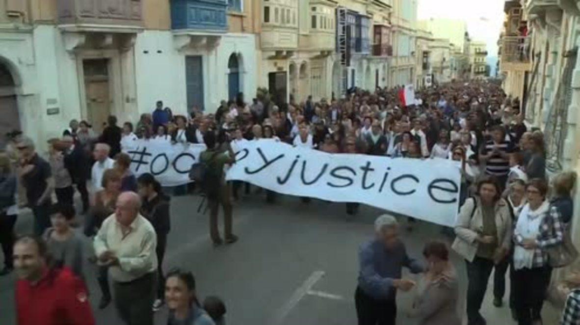 Malta: Thousands demand justice after murder of journalist Daphne Caruana Galizia