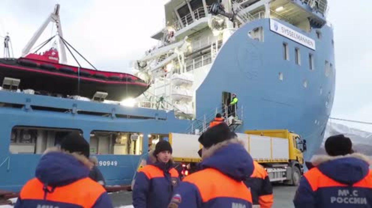Noruega: Servicios de emergencia rusos se preparan para el levantamiento del helicóptero Mi-8