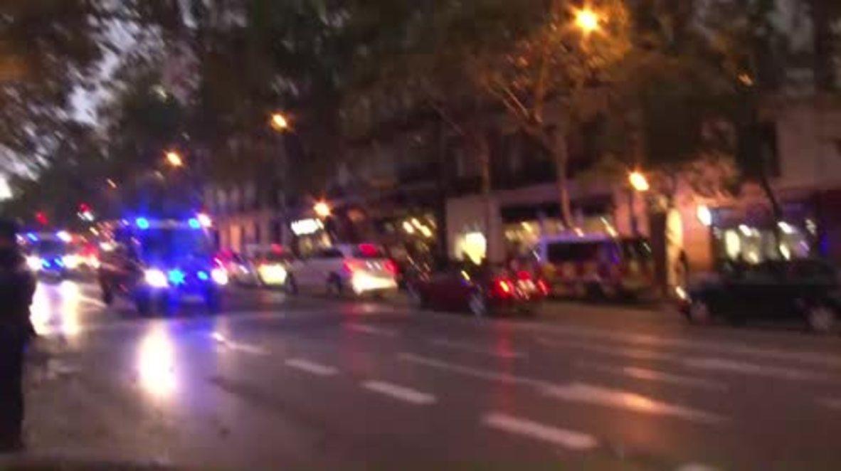 Spain: Police sirens blare as arrested Catalan leaders taken away