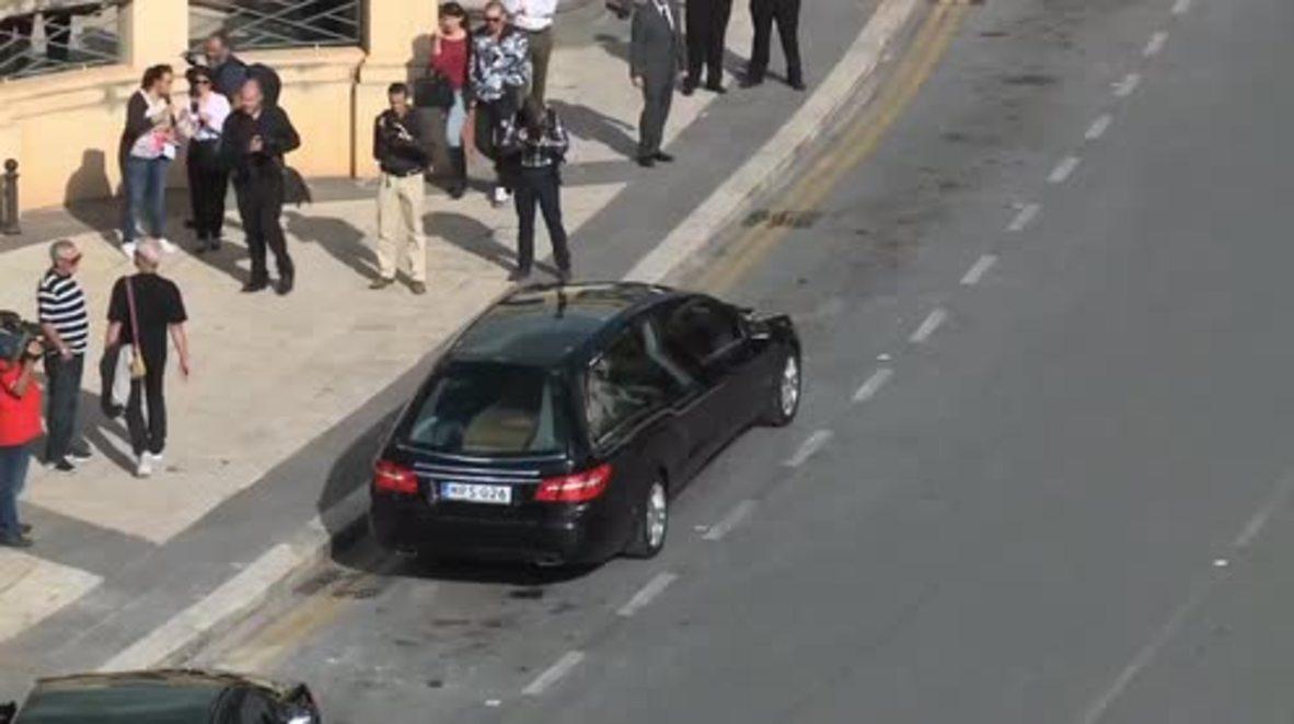 Malta: Hundreds mourn slain journalist Daphne Caruana Galizia in Mosta