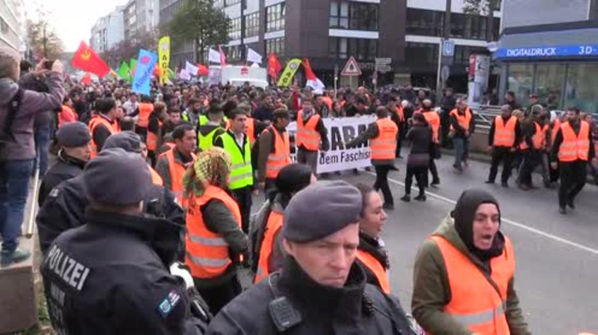 Germany: Pro-Kurdish protesters rally for PKK leader Oecalan's freedom