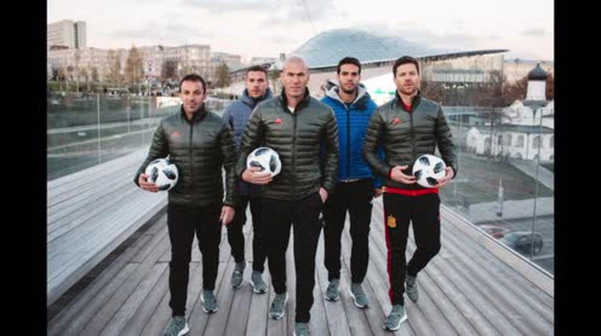 Russia: Football legends unveil official Adidas 2018 FIFA World Cup ball  *STILLS*