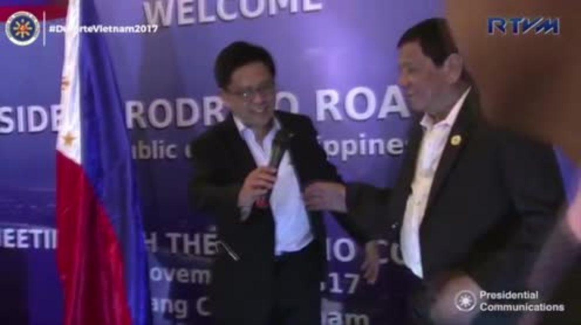 Vietnam: Filipino President Duterte in racist jibe at 'arrogant, black' Obama