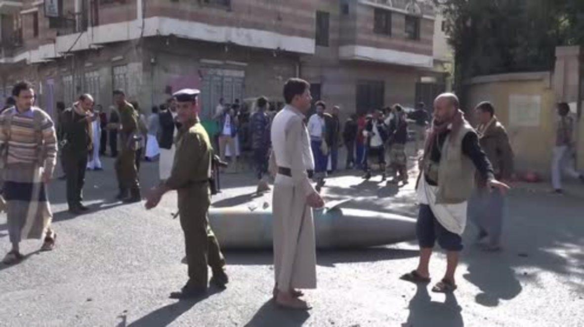 Yemen: 1-tonne rocket lands near police academy in Sana'a