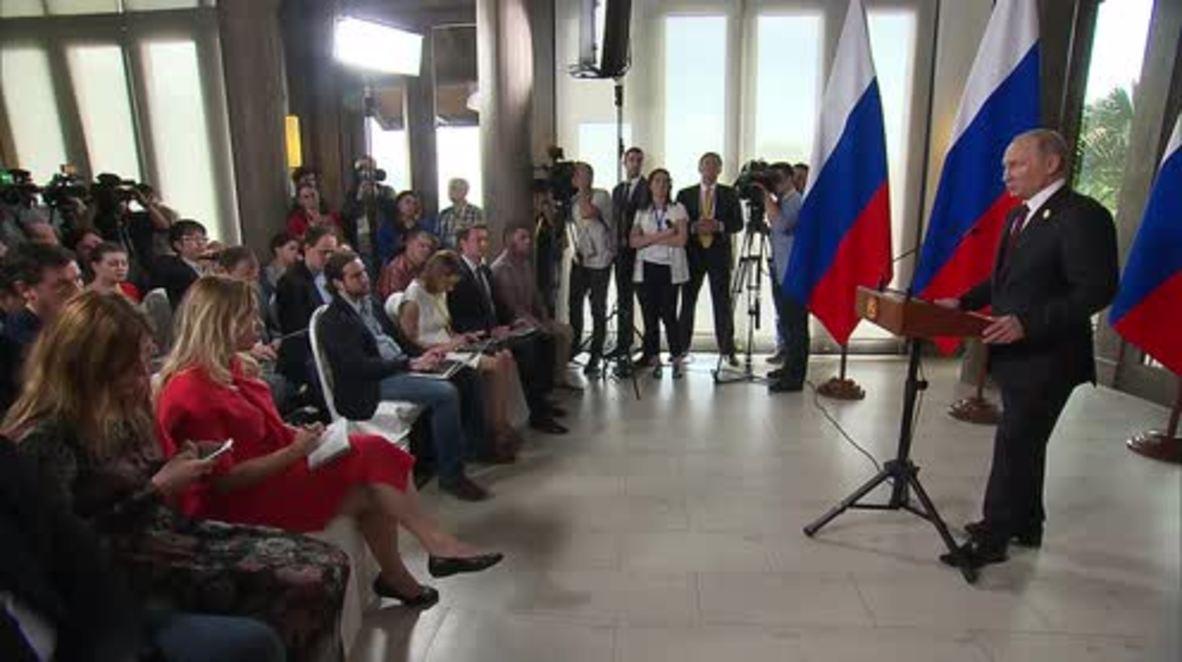 Vietnam: Putin niega que existan pruebas de la injerencia rusa en elecciones de EE. UU.