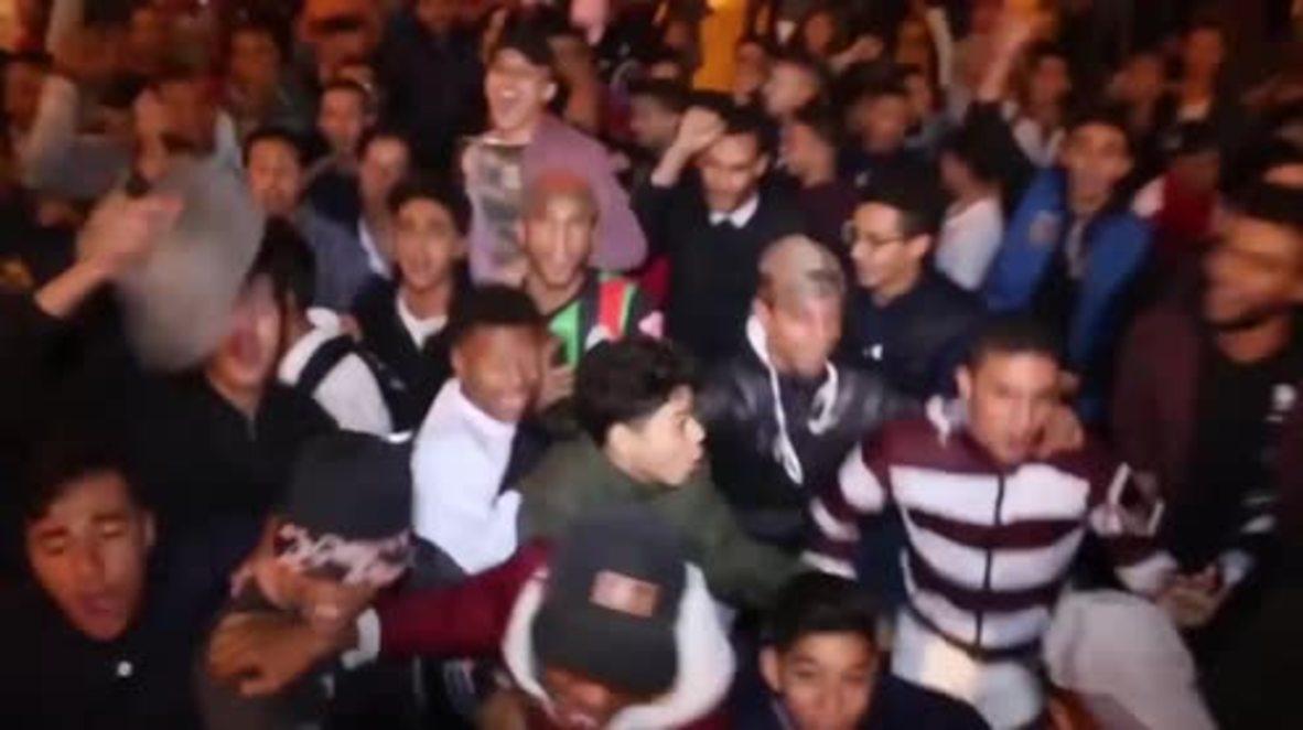 Marruecos: Cientos celebran clasificación del equipo nacional a Rusia 2018