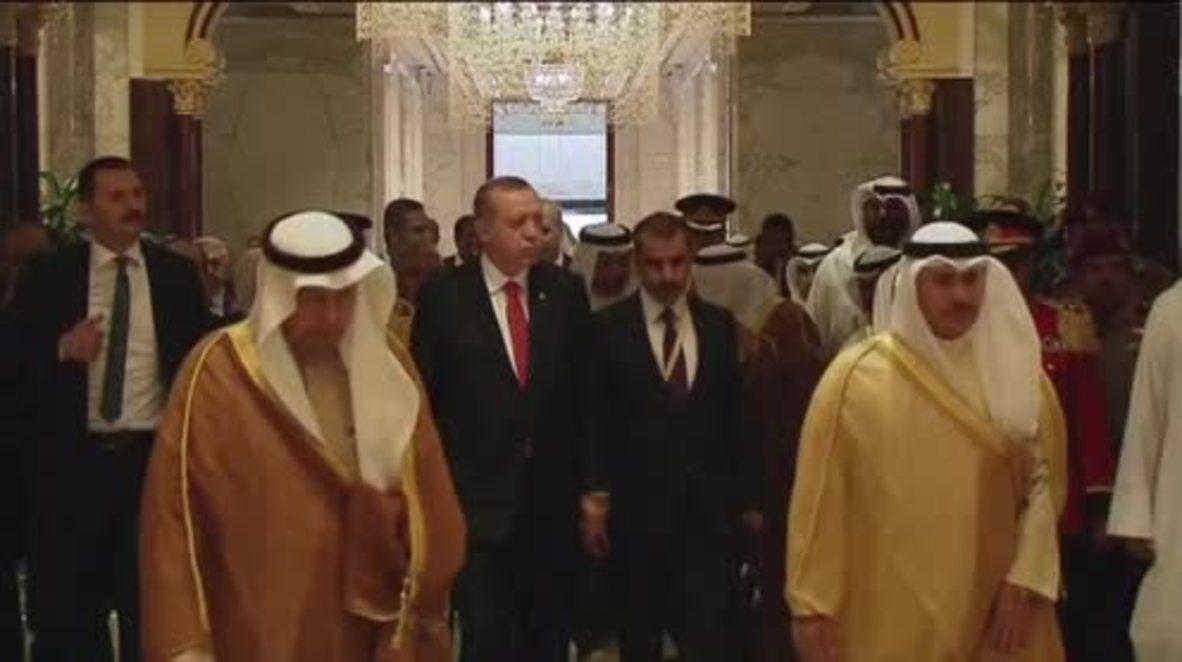 Kuwait: Erdogan holds talks with Emir