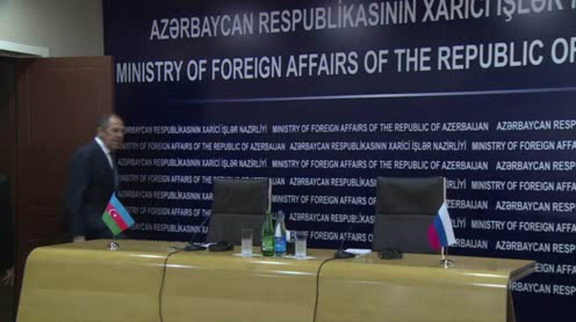 Azerbaijan: Lavrov and Azerbajani FM talk Syria and Nagorno-Karabakh in Baku