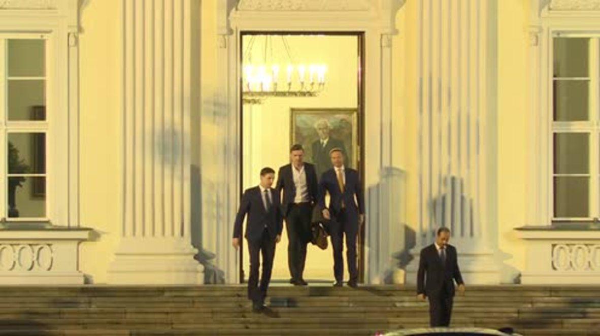 Germany: FDP leader Lindner departs Bellevue after meeting with Steinmeier