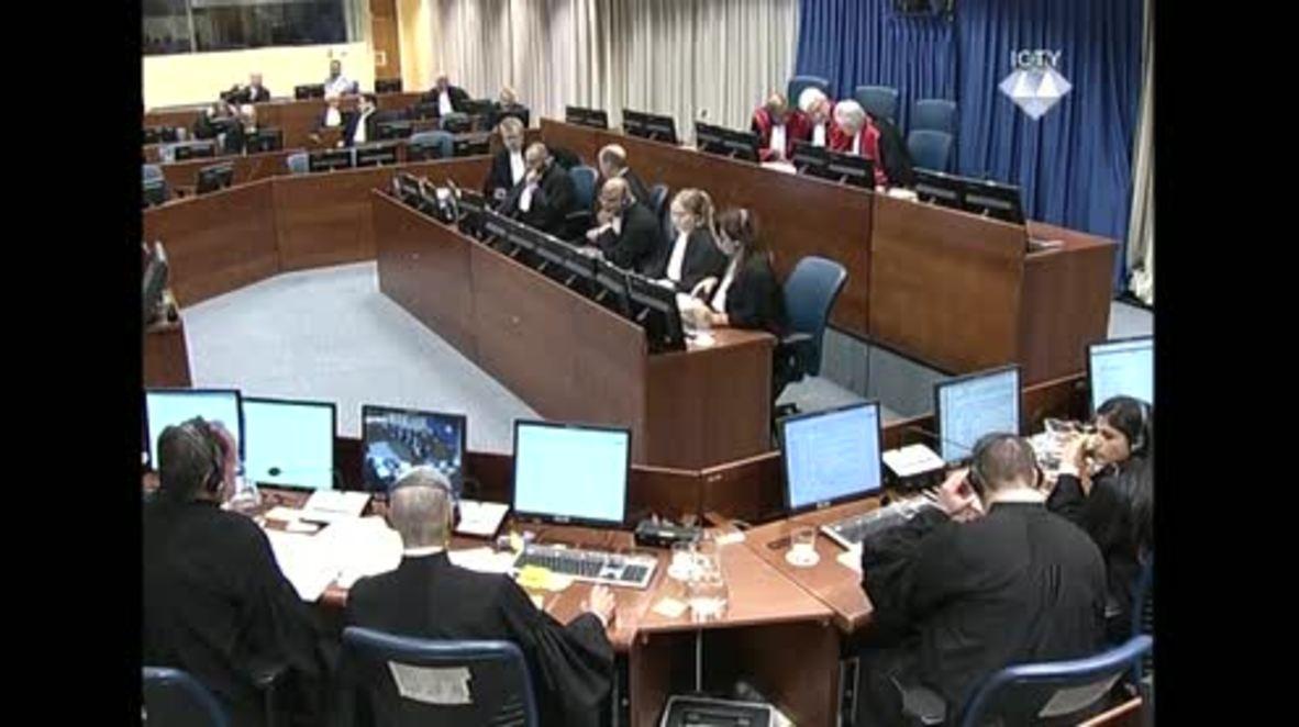 Netherlands: Mladic removed from courtroom after outburst against judges