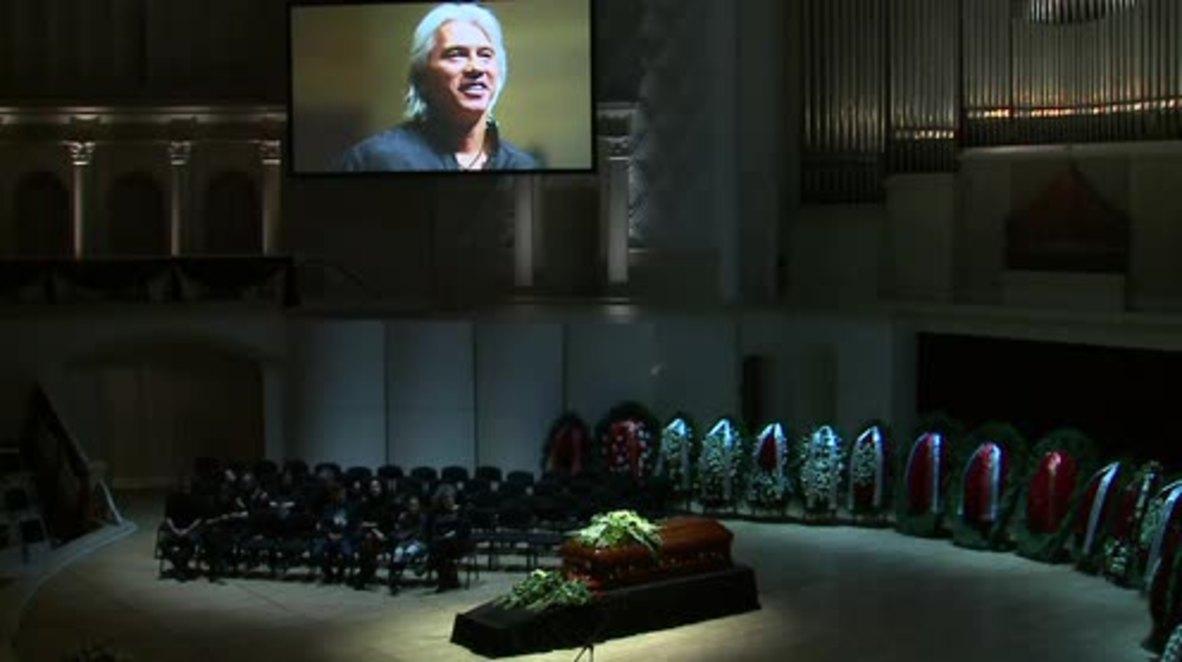 Russia: Memorial ceremony held for Russian baritone Hvorostovsky