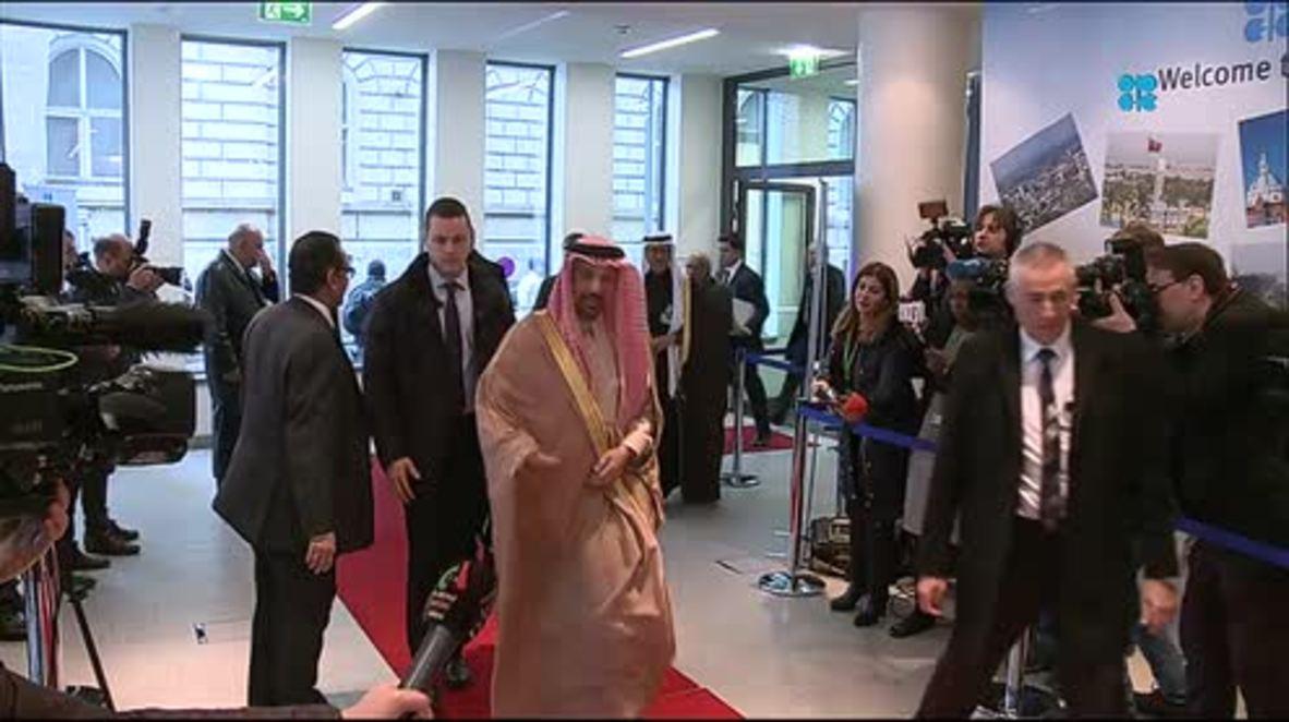 Austria: Delegates arrive at 173rd OPEC meeting in Vienna