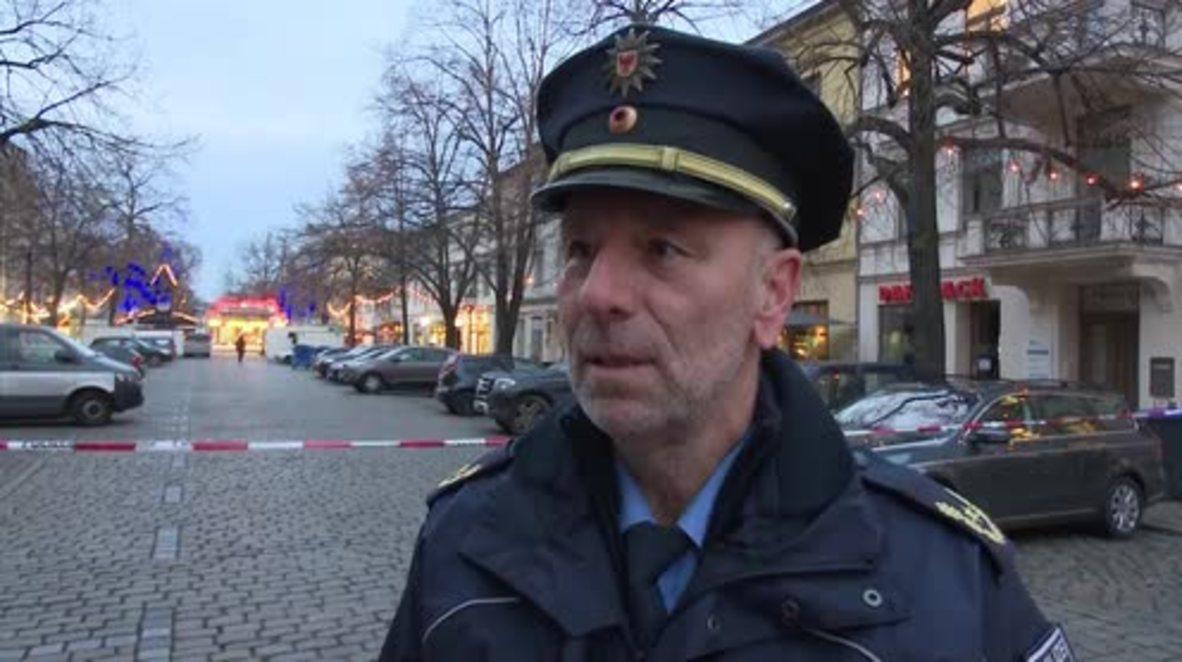 Alemania: Oficial de policía dice que el área está bloqueada tras encontrar un paquete sospechoso
