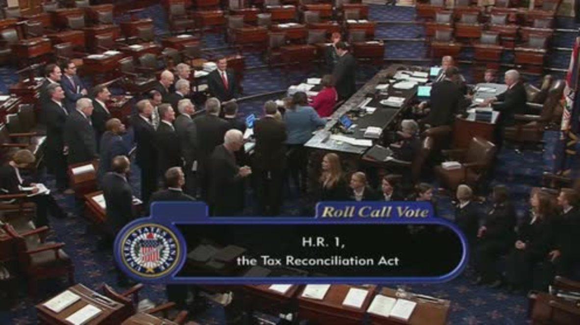 EE.UU.: El Senado aprueba la reforma fiscal de los Republicanos tras algunos cambios