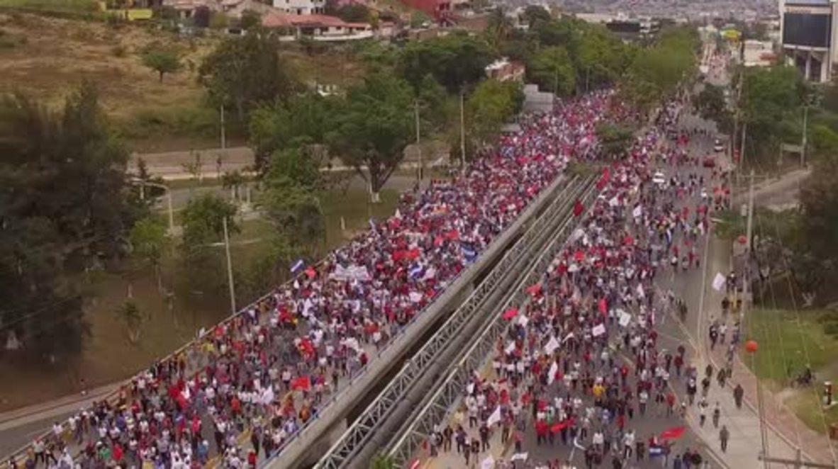 Honduras: Thousands rally against alleged electoral fraud in Honduran capital