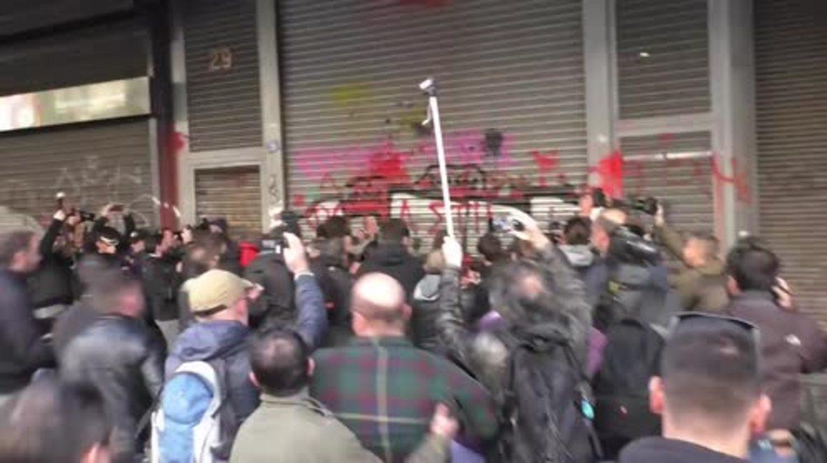 Grecia: Manifestantes se cuelan en el Ministerio de Trabajo en protesta por la reforma de la Ley de Trabajo