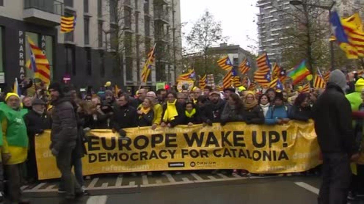 Belgium: Puigdemont and thousands of protesters demand EU backing