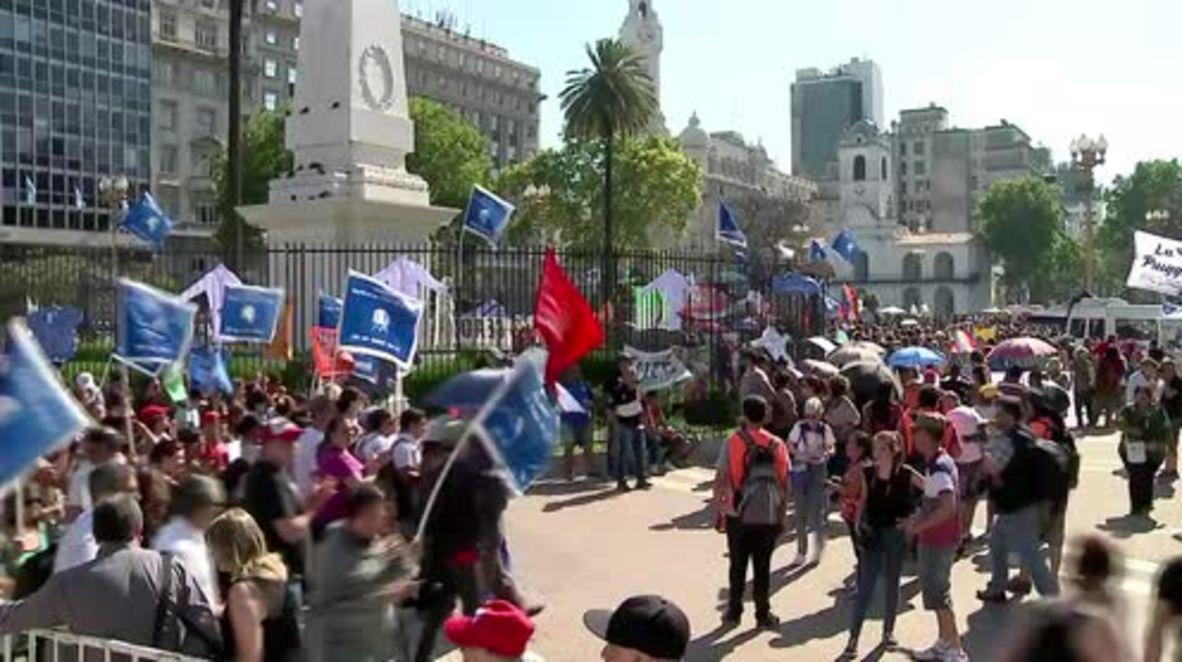 Argentina: 24 hour Resistance March underway in Buenos Aires