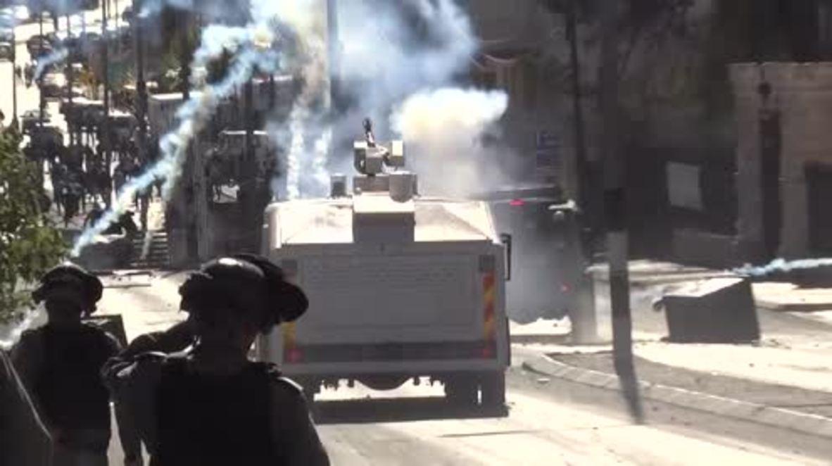 State of Palestine: Tear gas billows through Bethlehem amid anti-Trump clashes