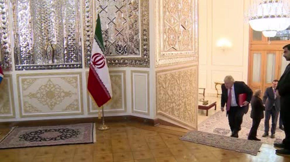 Iran: Boris Johnson meets with Mohammad Zarif in Tehran