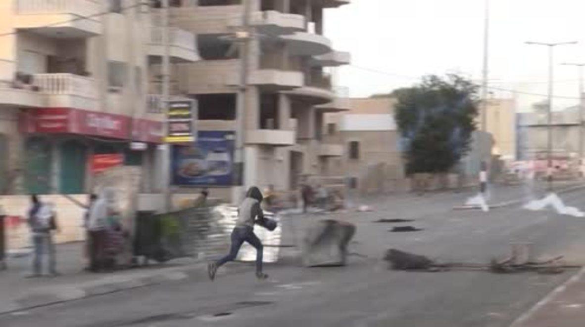 Palestina: Policía israelí responde con gas lacrimógeno a las protestas palestinas en la ciudad de Belén.