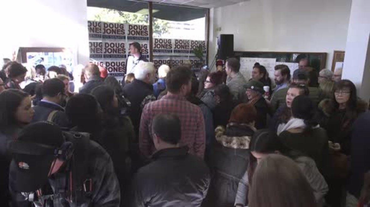 USA: Senate Candidate Doug Jones holds rally in Birmingham