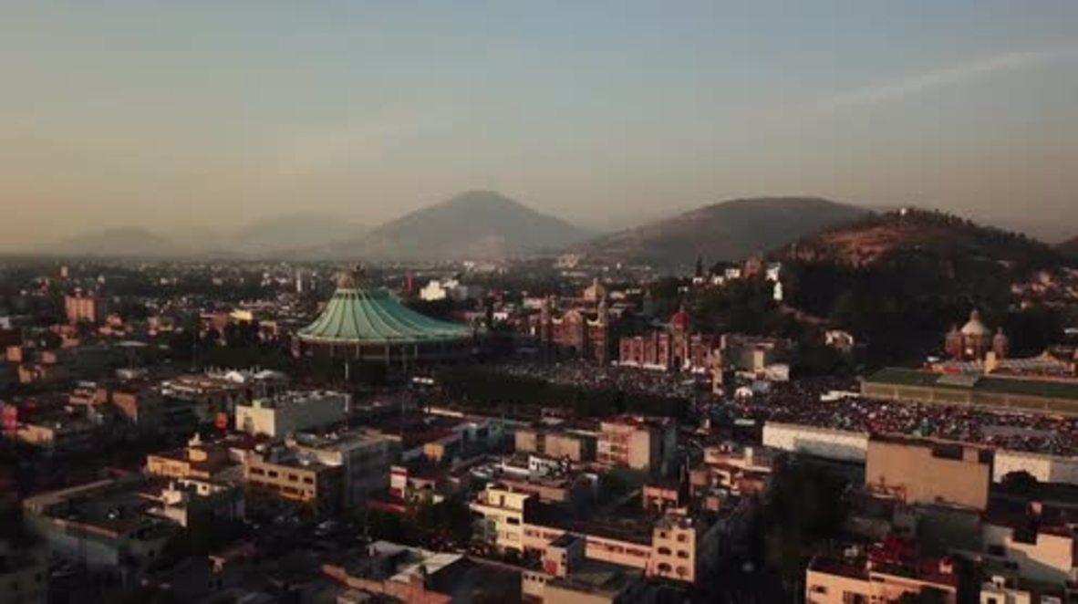 México: Impresionantes imágenes de drone capturan a peregrinos en la Basílica de Nuestra Señora de Guadalupe