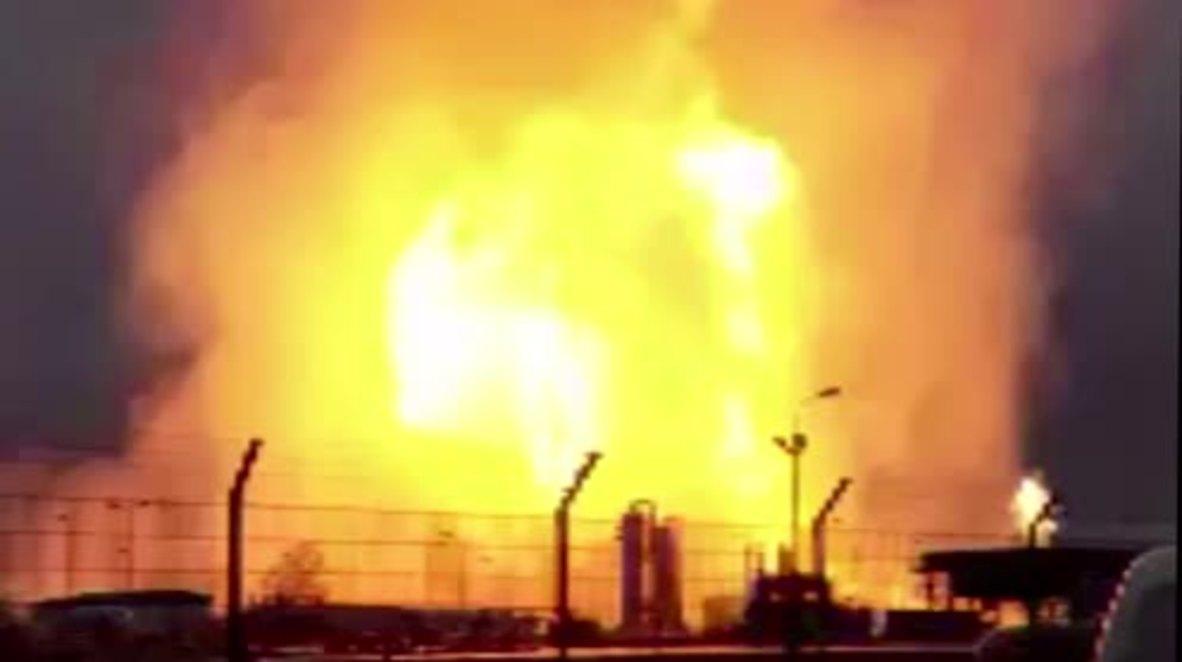 Austria: Baumgarten gas hub up in flames after explosion