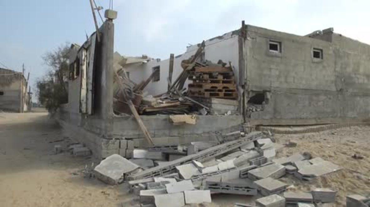 Estado de Palestina: Edificios gazatíes quedan en ruinas tras otro bombardeo israelí