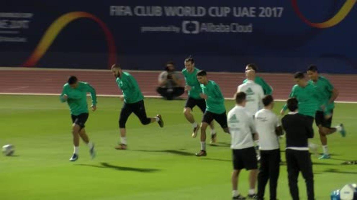 Emiratos Árabes Unidos: Ronaldo lidera el entrenamiento del Real Madrid antes de la final contra el Gremio