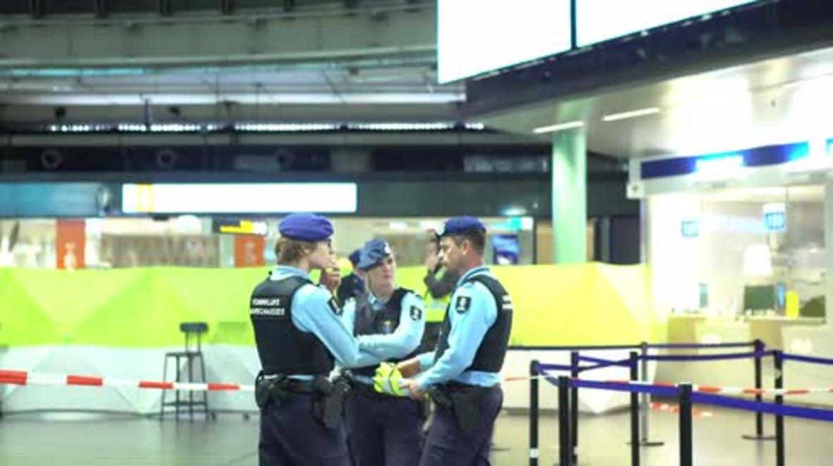 Netherlands: Police secure Schiphol Airport after shooting knifeman
