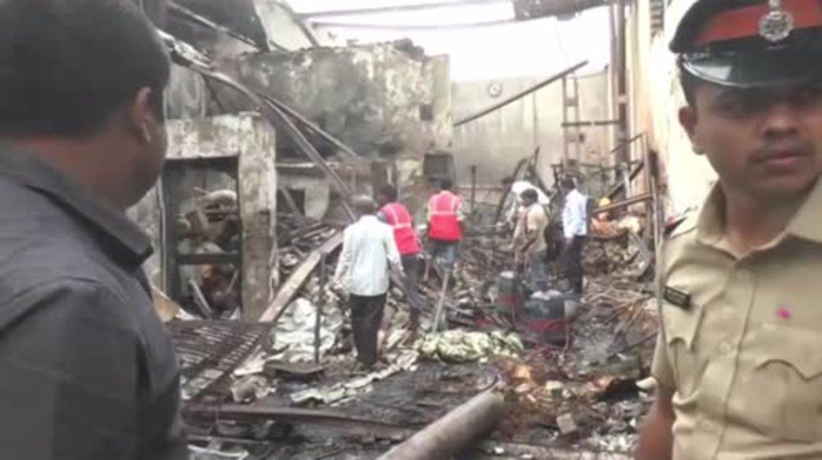 India: Shop blaze leaves 12 dead in Mumbai