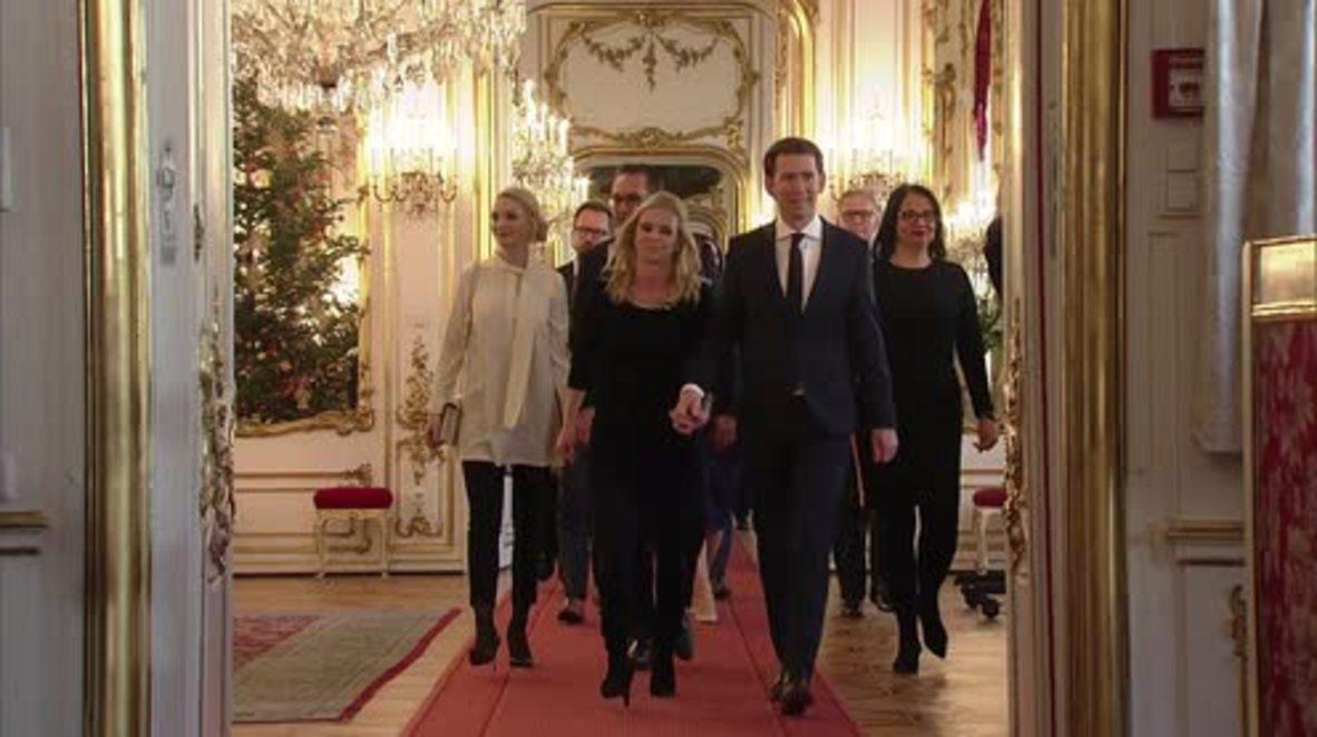 Austria: Kurz sworn in as Chancellor in Hofburg Palace