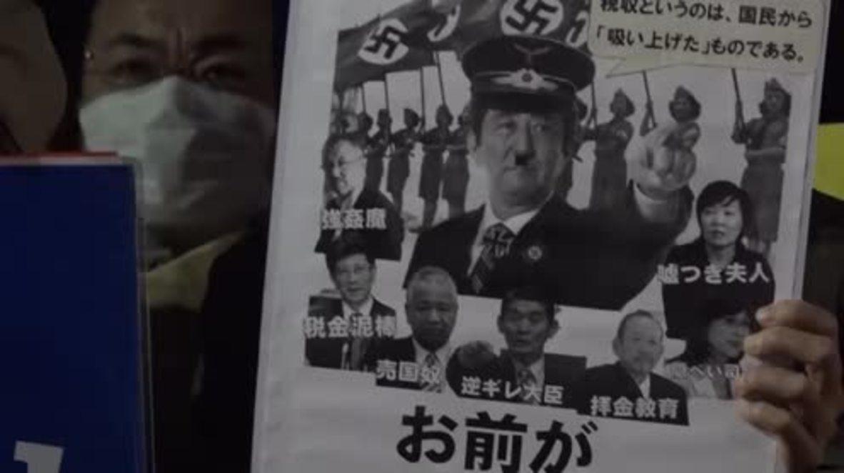 Japón: Miles de personas critican a Shinzo Abe por la instalación de nuevos sistemas antimisiles en Japón