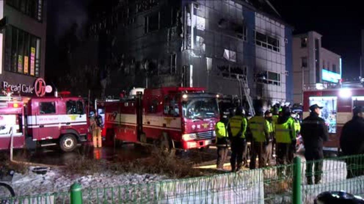 South Korea: At least 29 killed in public gym blaze