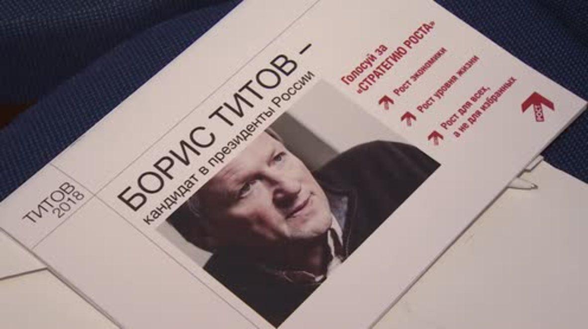 Rusia: El empresario Boris Titov elegido como candidato del Partido Growth