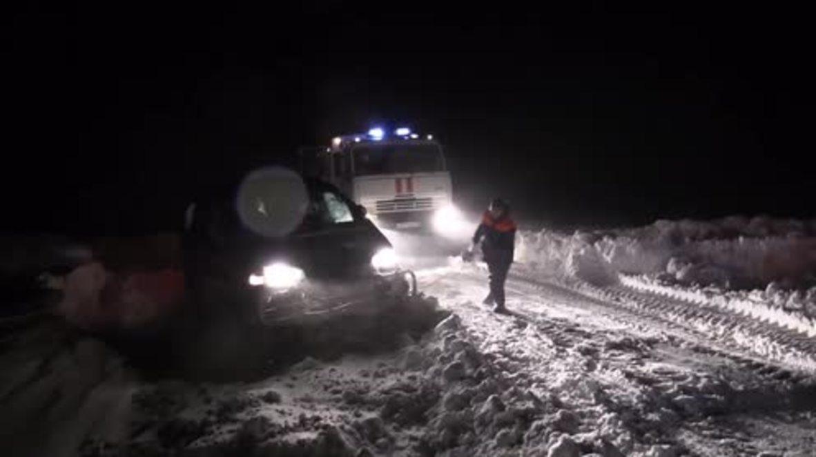 Rusia: Condiciones climatológicas extremas de hielo y frío producen el caos en el lejano oriente ruso