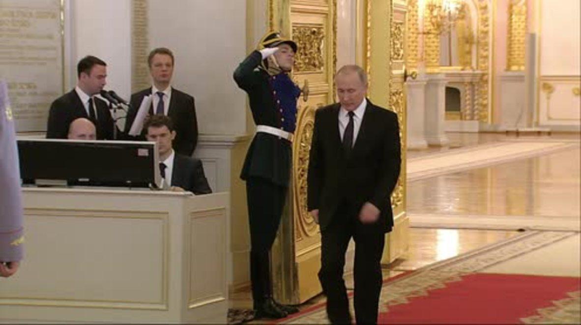 Russia: Putin says St Petersburg store bomb was terrorism