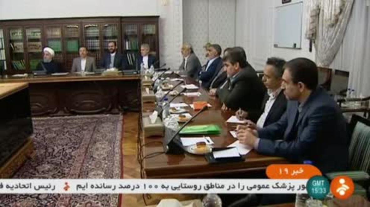 """Irán: Rohani dice que """"desempleo"""" es la causa de los protestas en el país."""