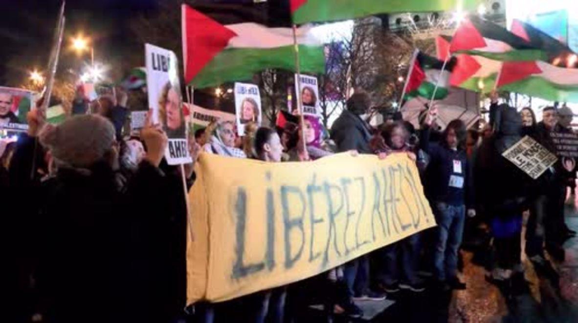 Francia: Manifestantes exigen la libertad de la adolescente palestina Ahed Tamini