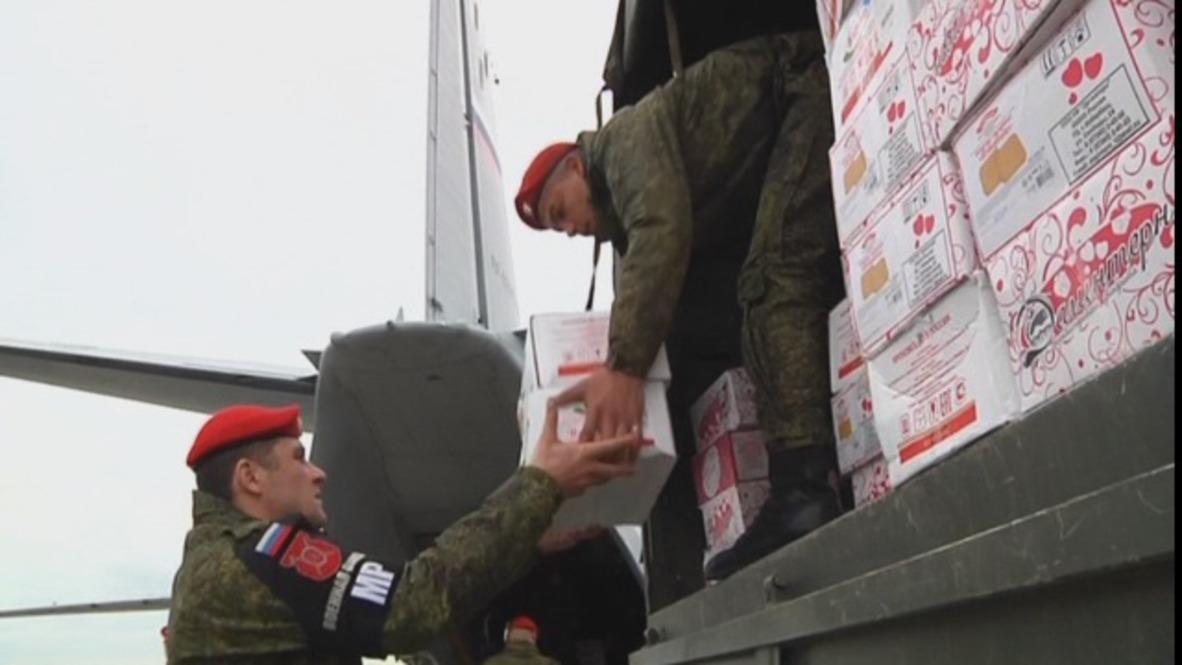 Siria: Rusia envía ayuda humanitaria a la base siria de Jmeimim para el Año Nuevo