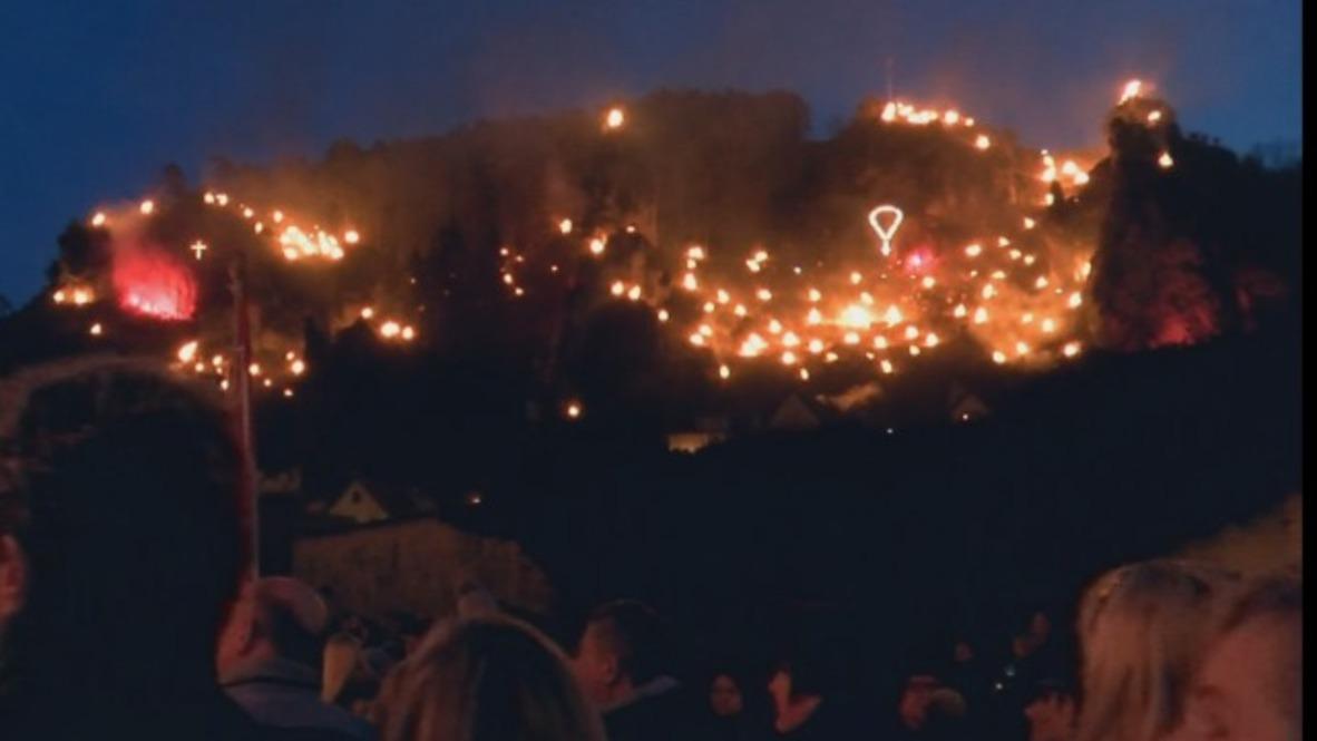 Germany: Hundreds of Perpetual Adoration bonfires illuminate Bavaria