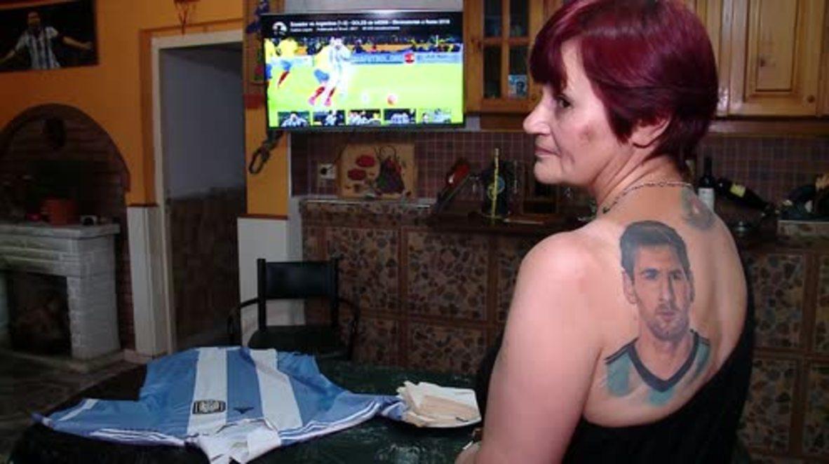 Argentina: ¿Es esta abuela de 54 años la mayor fan de Lionel Messi?