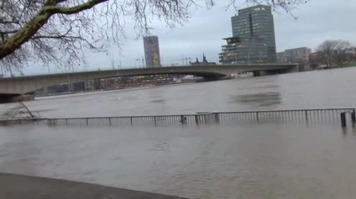 Alemania: Se suspende la navegación en el río Rin mientras Colonia sufre fuertes inundaciones